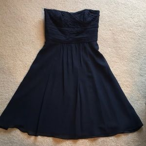 Ann Taylor strapless bridesmaid dress - Navy